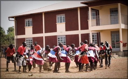 Children at a Ugandan school.